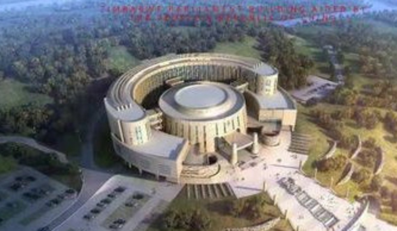 China's deputy ambassador described Zimbabwe's new parliament building as a symbol of the friendship between the two countries. Photo: Twitter