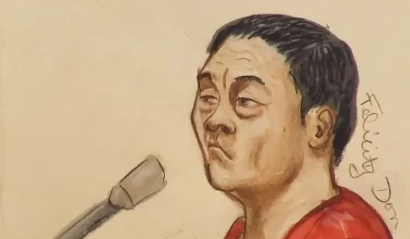 A 2015 courtroom sketch of Zhao Li. Graphic: Reuters / Felicity Don