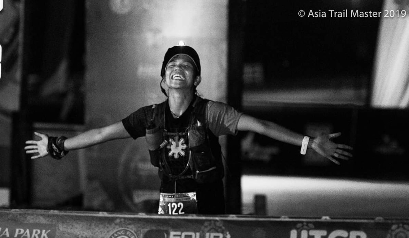 Fredelyn Alberto finishes the Four Trails Thailand, part of the Asia Trail Master series. Photo: Asia Trail Master