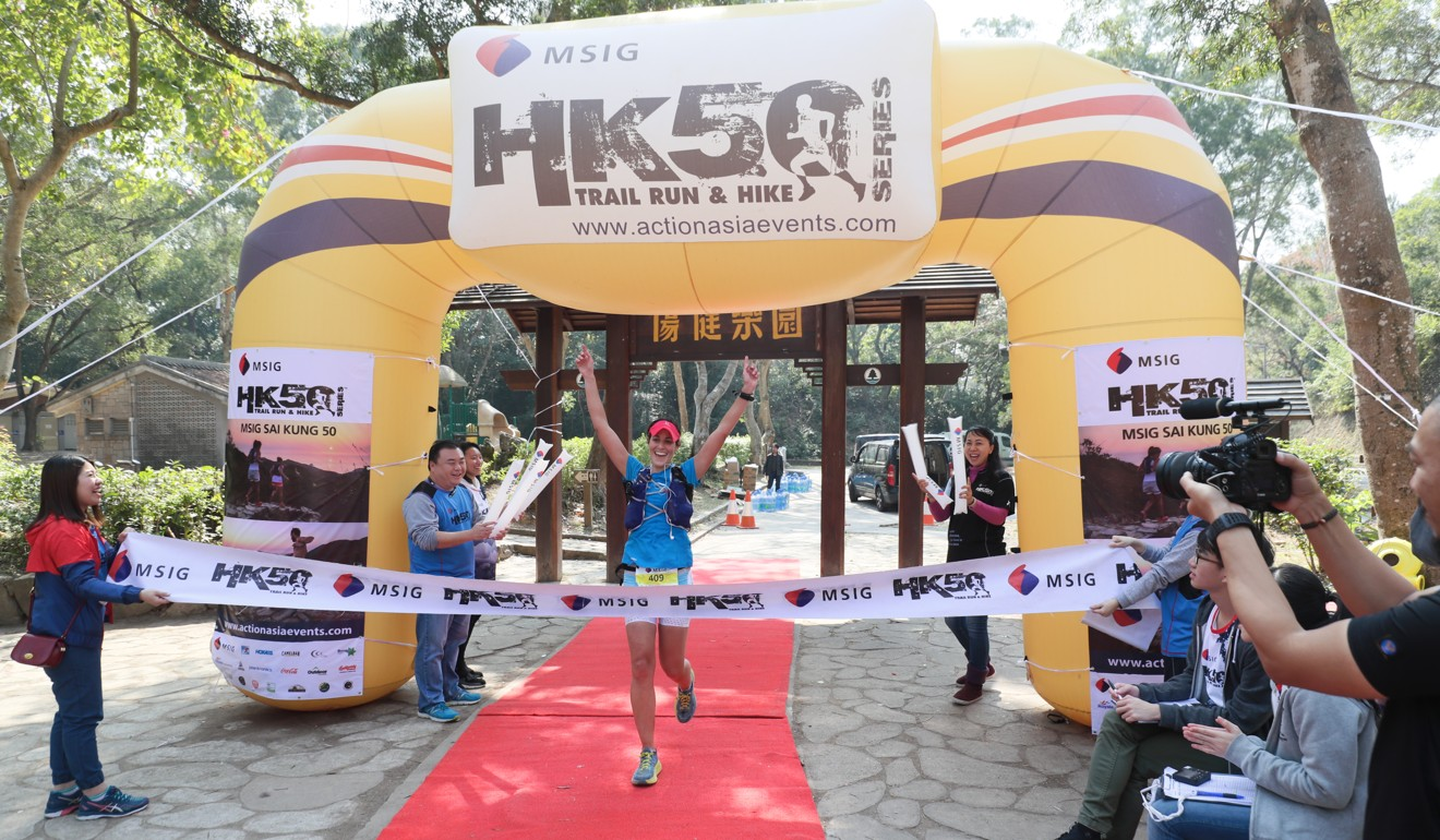 Nia Cooper wins the Sai Kung 50 2018. Photo: Action Asia