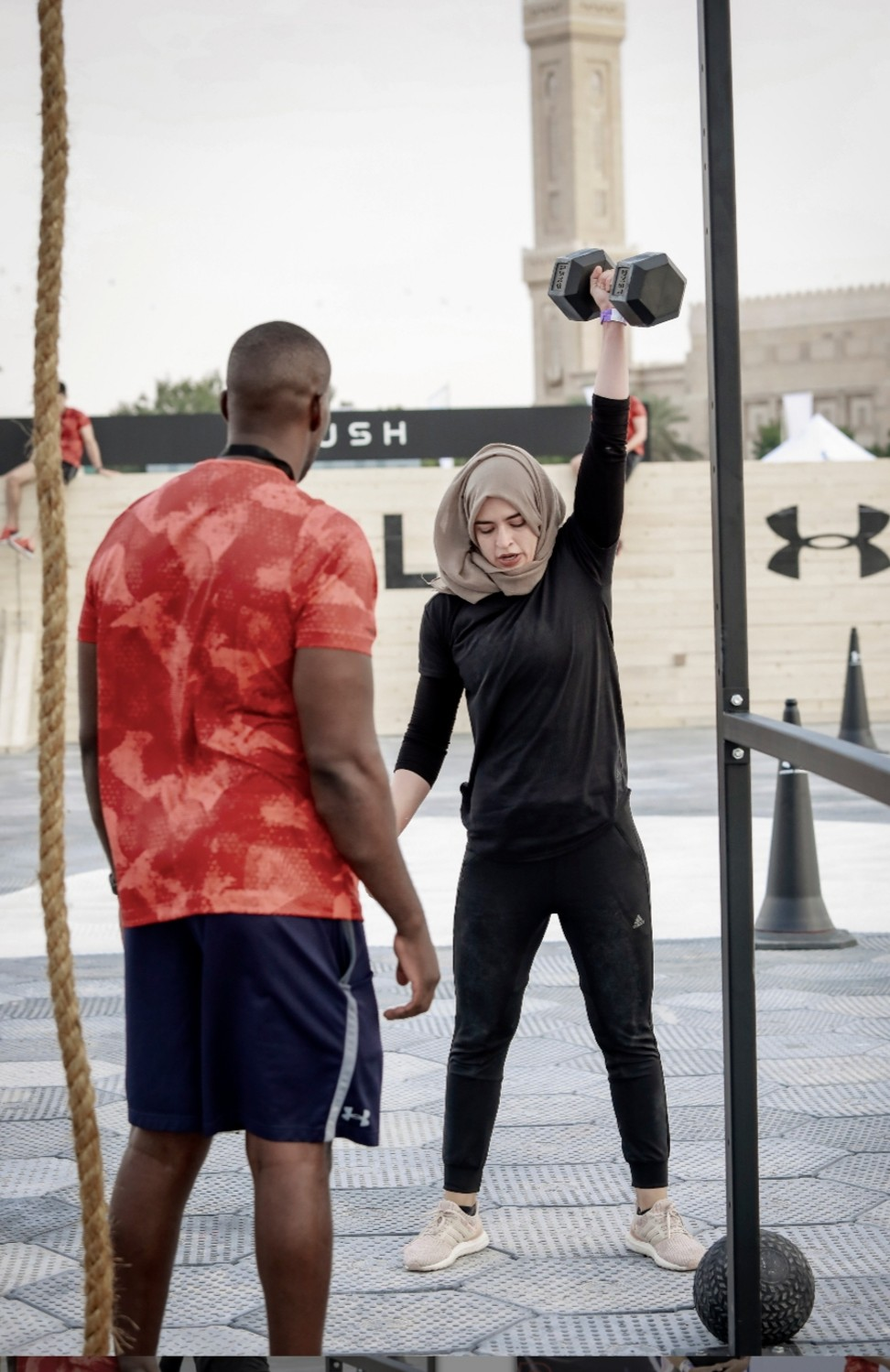 Kaddour said she hopes to inspire other women to take up CrossFit by competing at the games this year. Photo: Handout