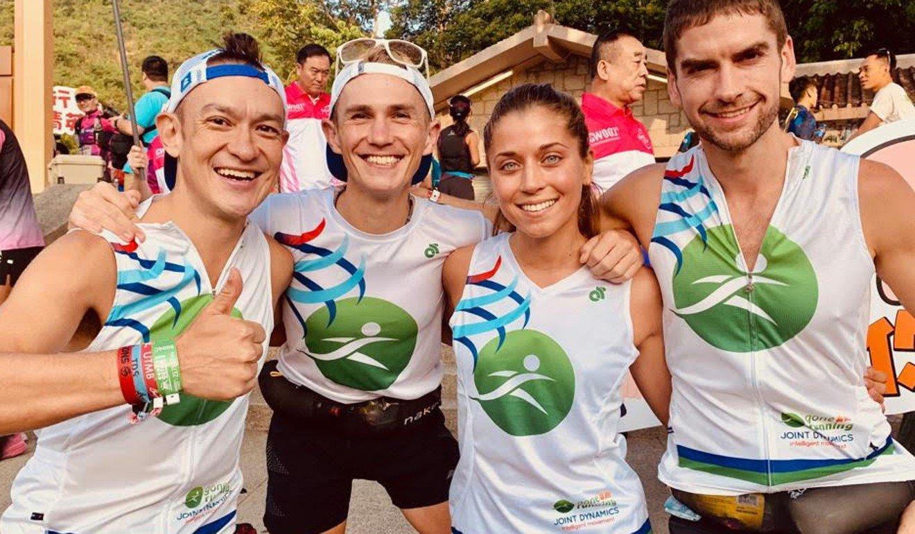 John Ellis, Tom Robertshaw, Veronika Vadovičová and Ryan Whelan set the unofficial record at the Oxfam Trailwalker in 2019. Photo: Handout