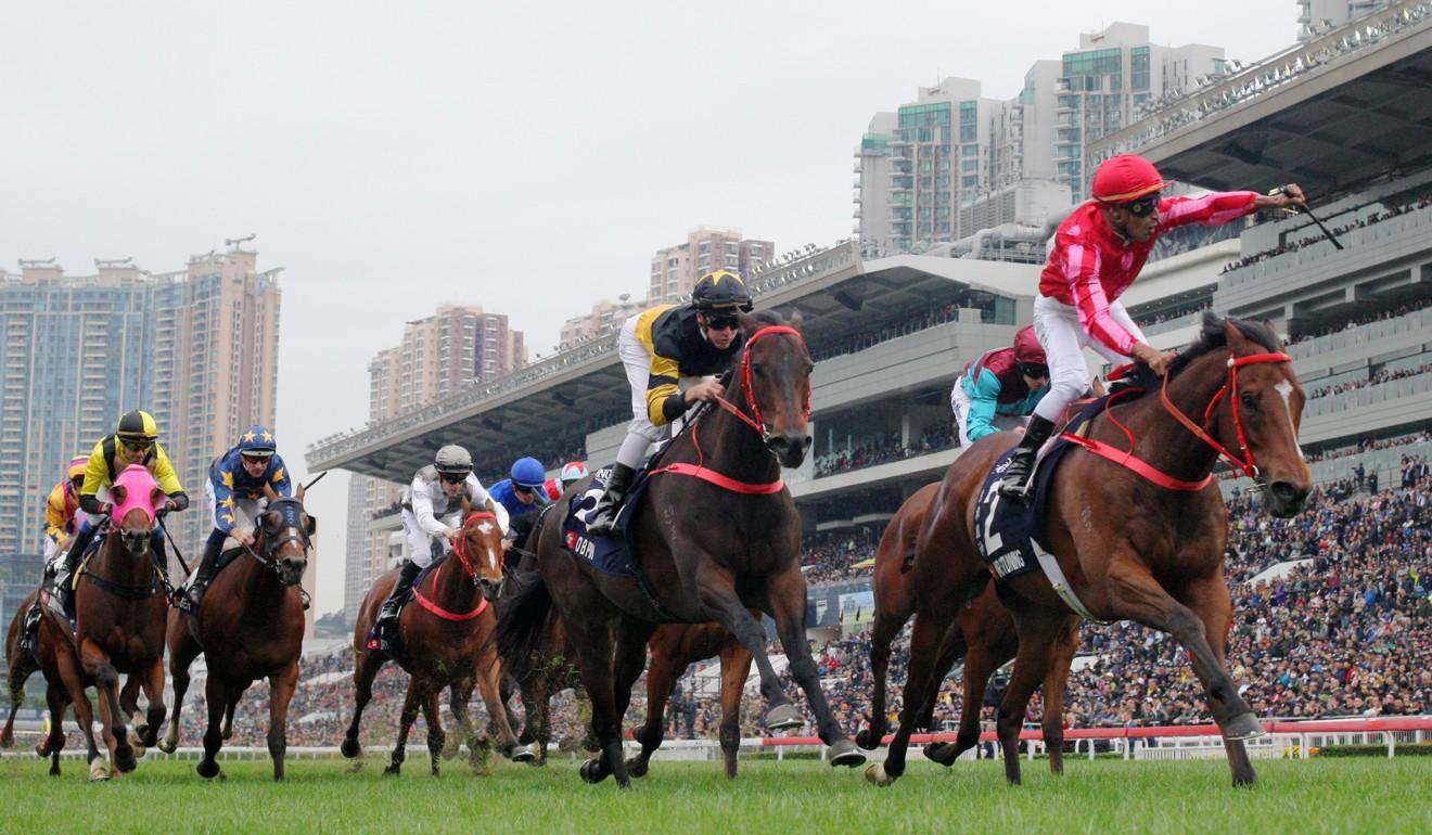 Mr Stunning wins the Hong Kong Sprint in 2018.