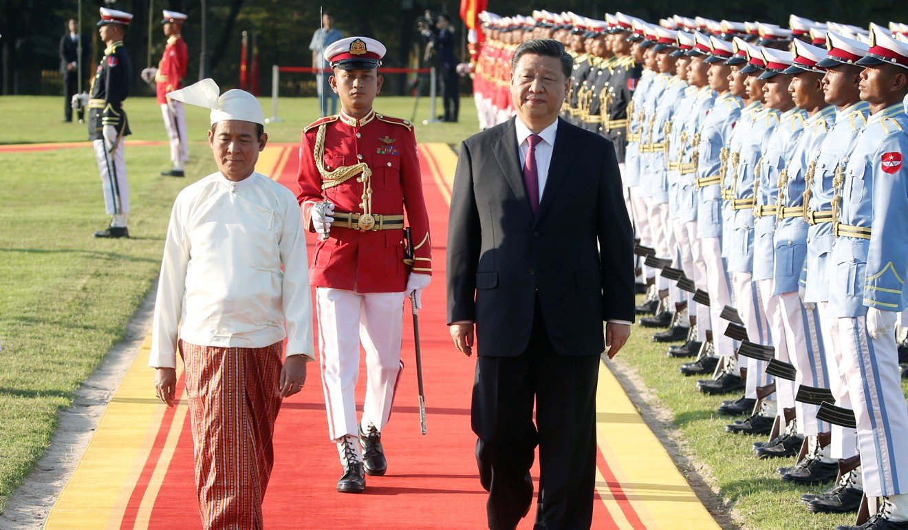 Chinese President Xi Jinping arrives in Myanmar for visit that aims to cement ties