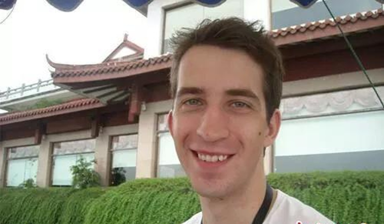 Phillip Hancock started teaching at Southwest University in Chongqing in 2013. Photo: Weibo