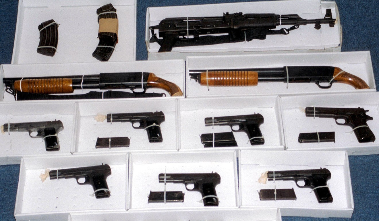 When Kwai Ping-hung was arrested on Christmas Eve in 2003, police seized the largest haul of weapons for 30 years. Photo: AP
