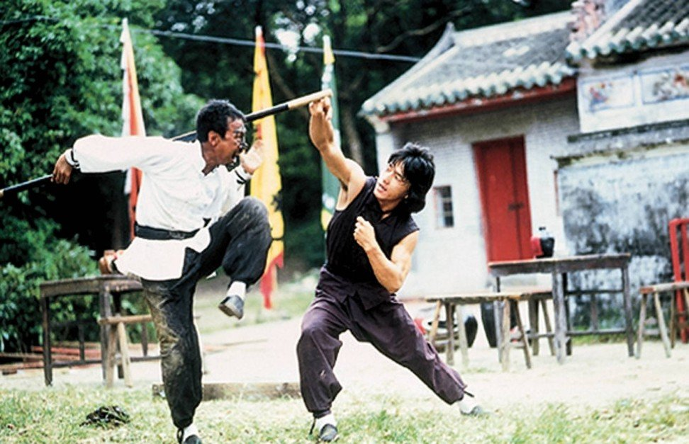 Jackie Chan (right) in Drunken Master.