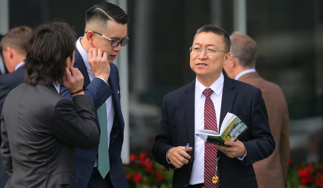 Francis Lui after training a winner at Sha Tin on Sunday.