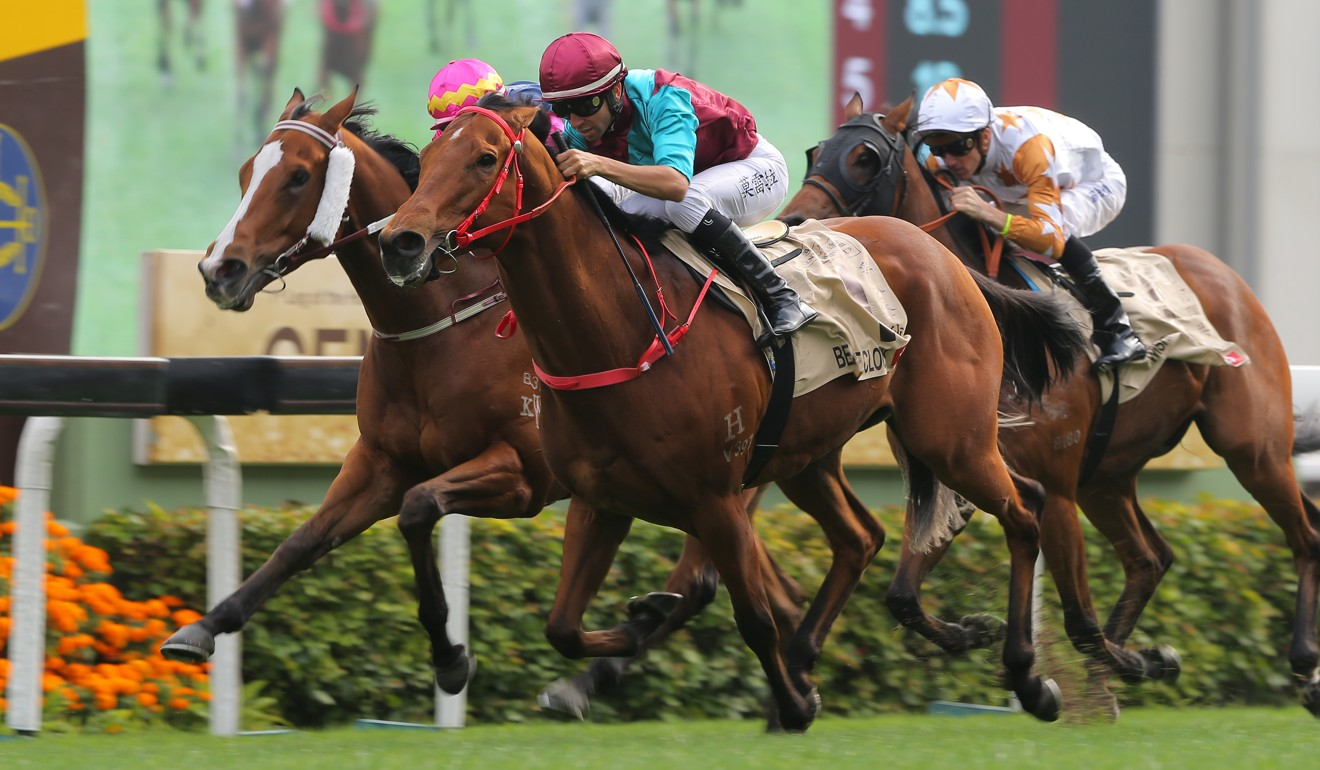 Beat The Clock surges home to win at Sha Tin.