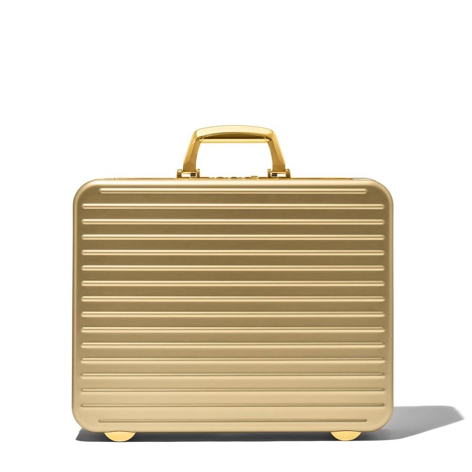 Rimowa Attaché Gold briefcase. Photo: handout