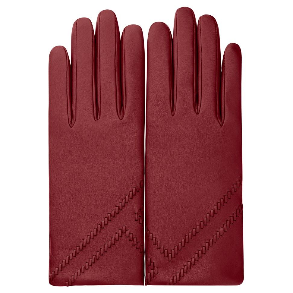 Hermès burgundy gloves. Photo: handout