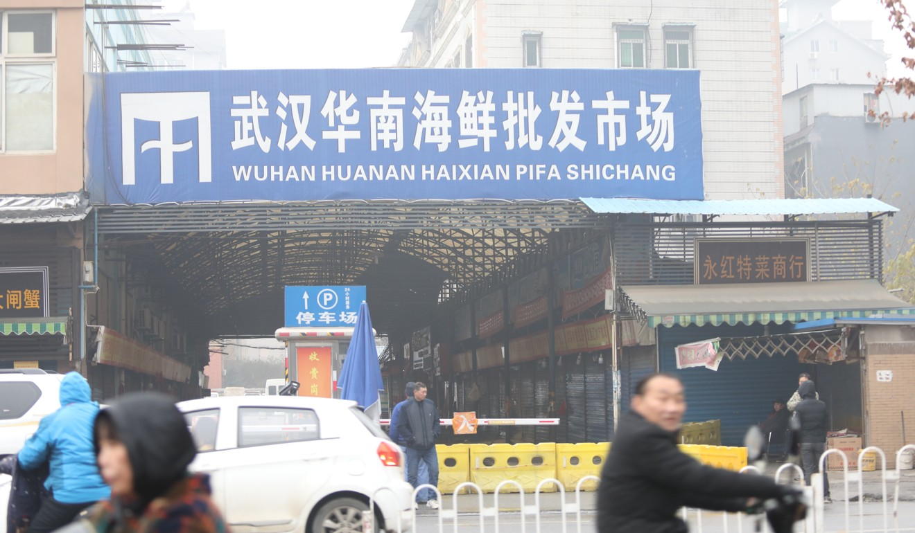 The Huanan Seafood Market is at the centre of the outbreak. Photo: Simon Song
