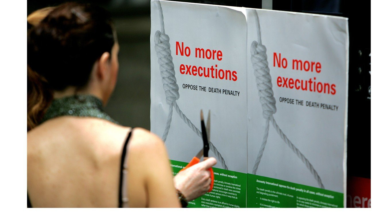 A protest against capital punishment in Singapore. Malaysia's Lawyers for Liberty alleged that execution methods in Singapore were brutal and unlawful. Photo: AFP
