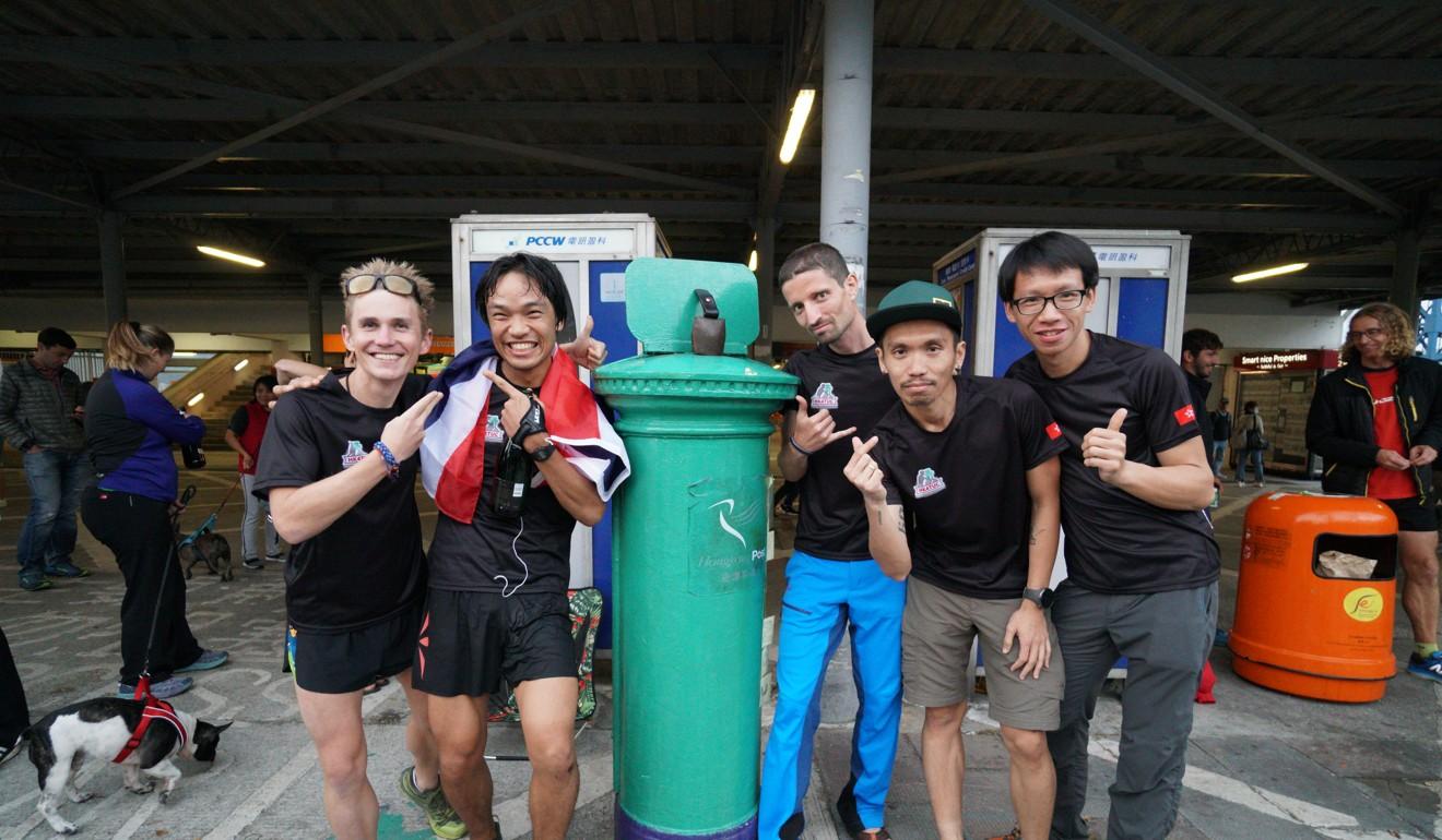 (From left) Tom Robertshaw, Phairat Varasin, Salomon Wettstein, Jag Lanante and Chiu Wen-hsiao are five of the nine finishers of the HK4TUC. Photo: Patchanida Pongsubkarun
