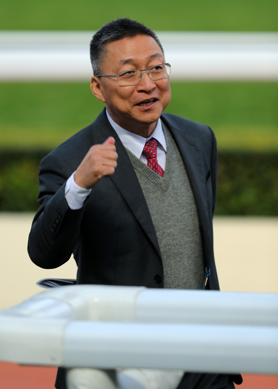 Francis Lui after training a winner at Sha Tin.