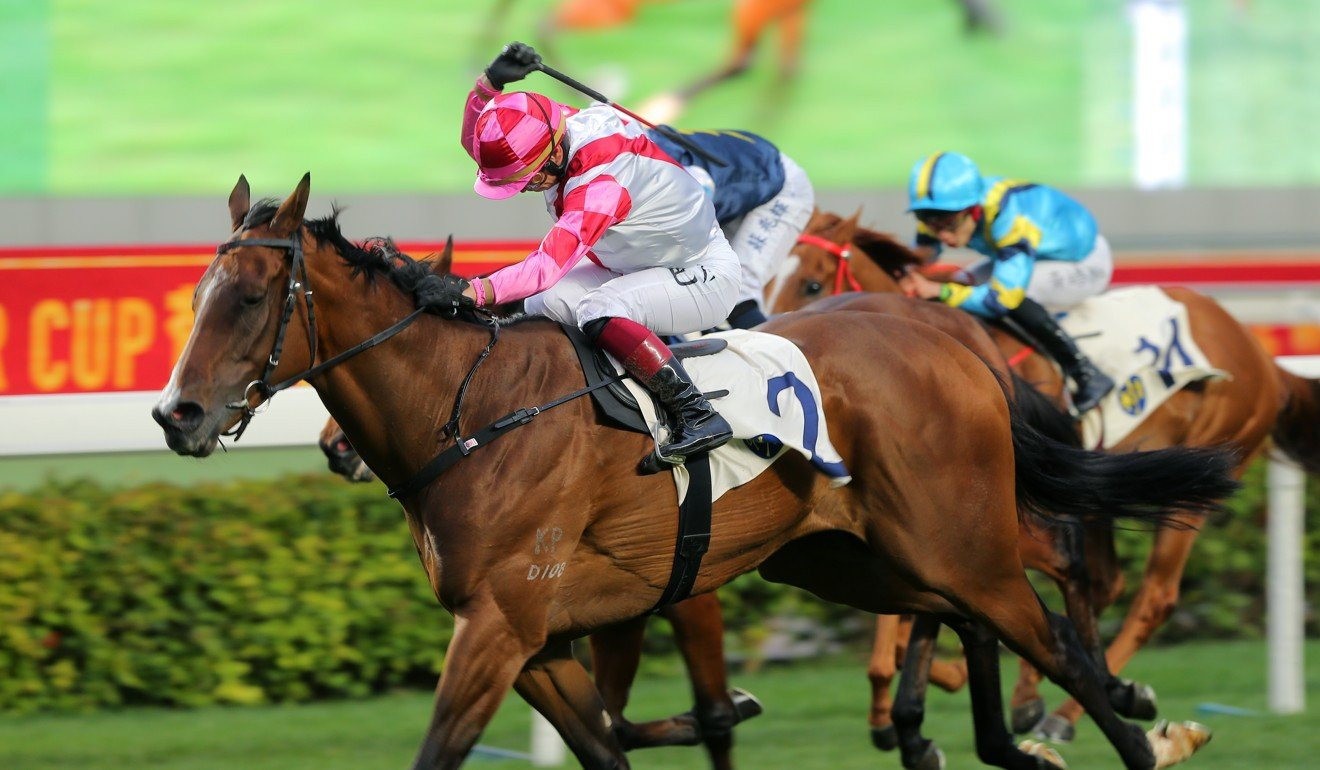 Alexis Badel wins on Super Wealthy at Sha Tin.
