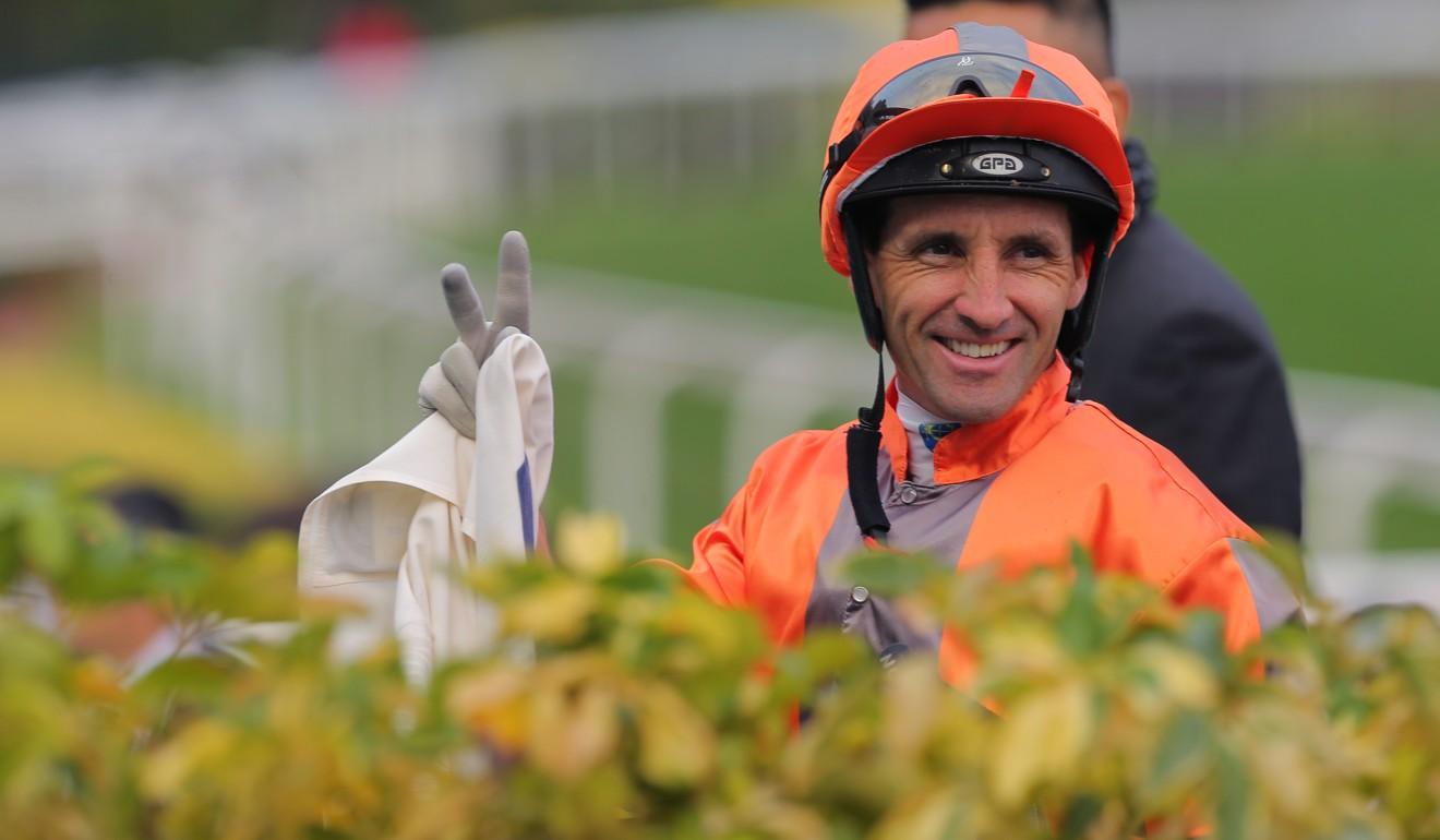 Neil Callan at Sha Tin after riding a winner.