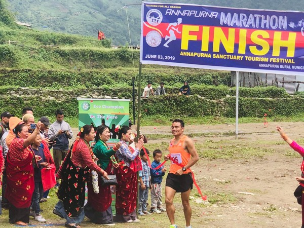 Hari Kumar Rimal feels less pressure, and more inspired, when running on trails compared to the track.