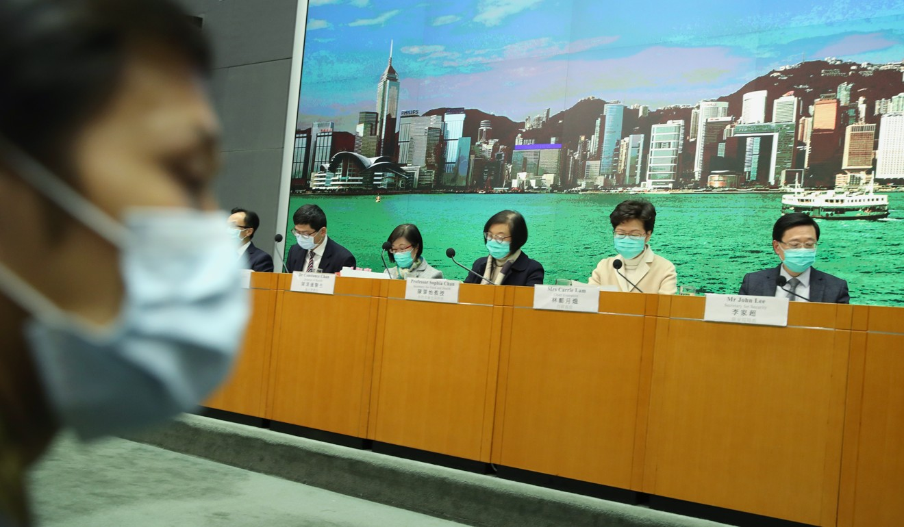 Coronavirus: Carrie Lam orders Hong Kong officials not to wear masks to save stocks for medical workers
