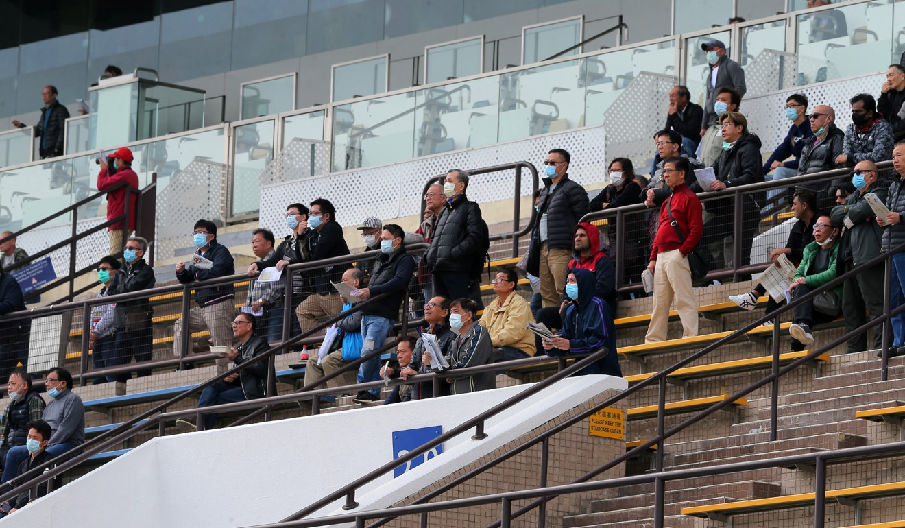 Fans watch the action at Sha Tin on Sunday. Photo: Kenneth Chan
