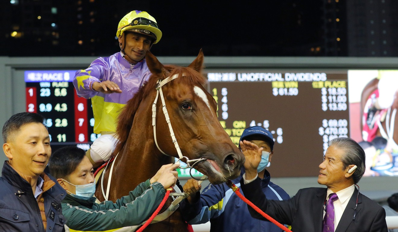 Californiadeepshot with connections after winning at Happy Valley.