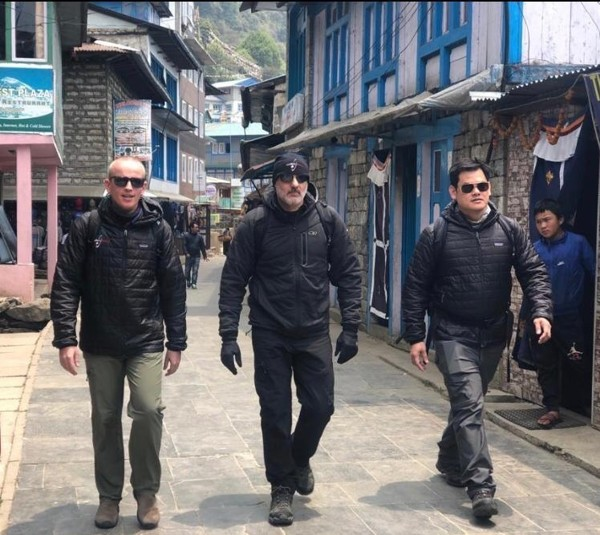 Matt Napiltonia visits Nepal and talks to government officials and doctors in the region. Photo: Handout