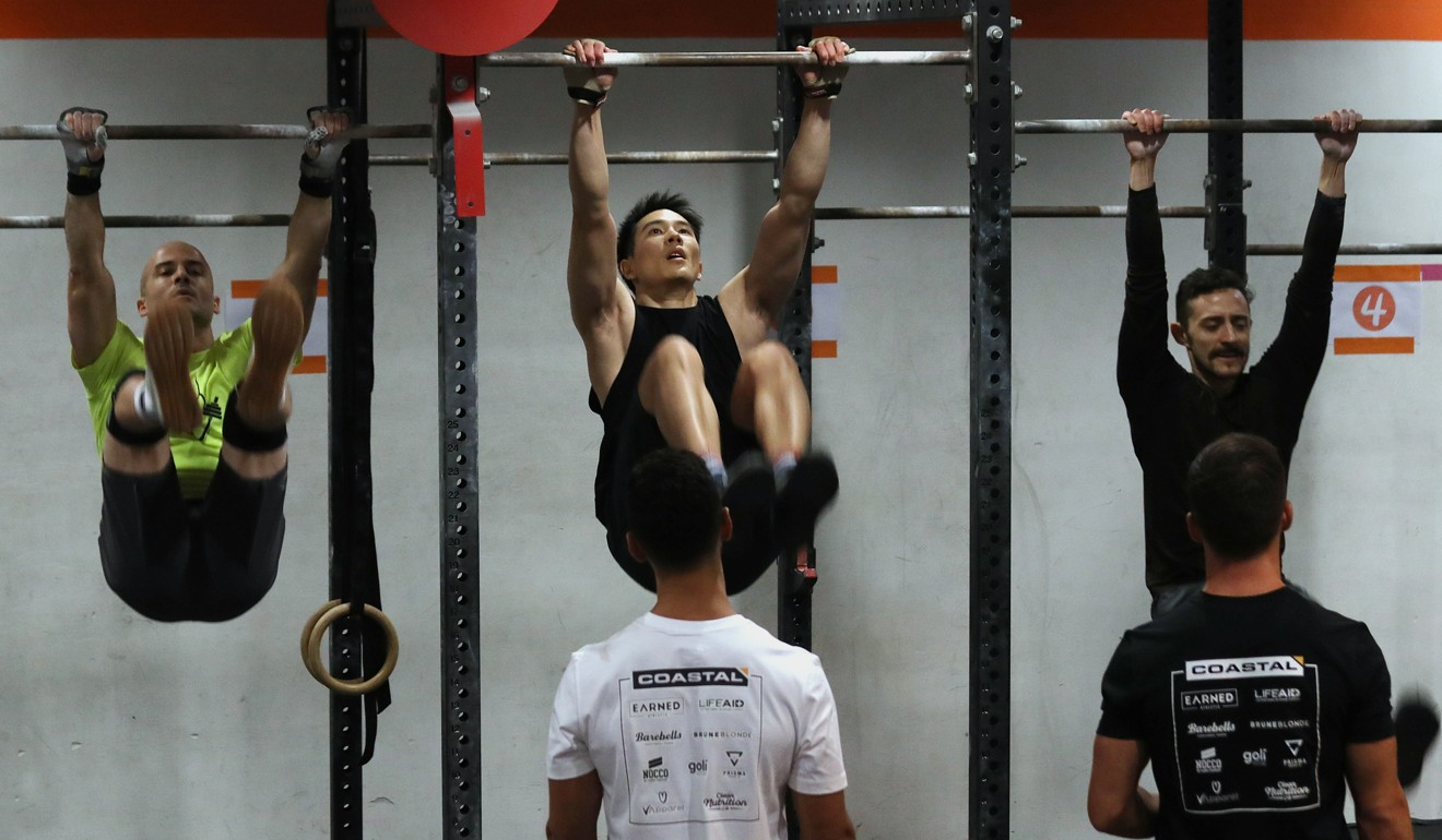Athletes fight hard during the Coastal Fitness competition. Photo: Xiaomei Chen