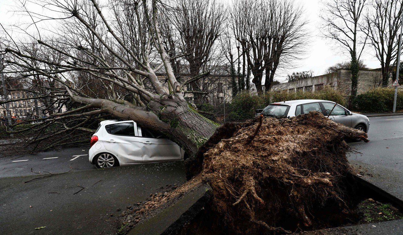 Man dies after falling into river as Storm Dennis slams into UK, power cuts hit France