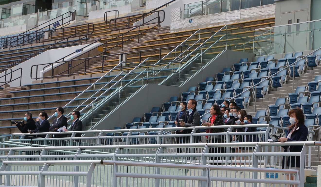 A smattering of onlookers at Sha Tin on Sunday.