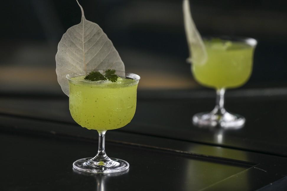 Home-grown Asian herbs add a fresh twist to gin cocktails at Aqua Spirit