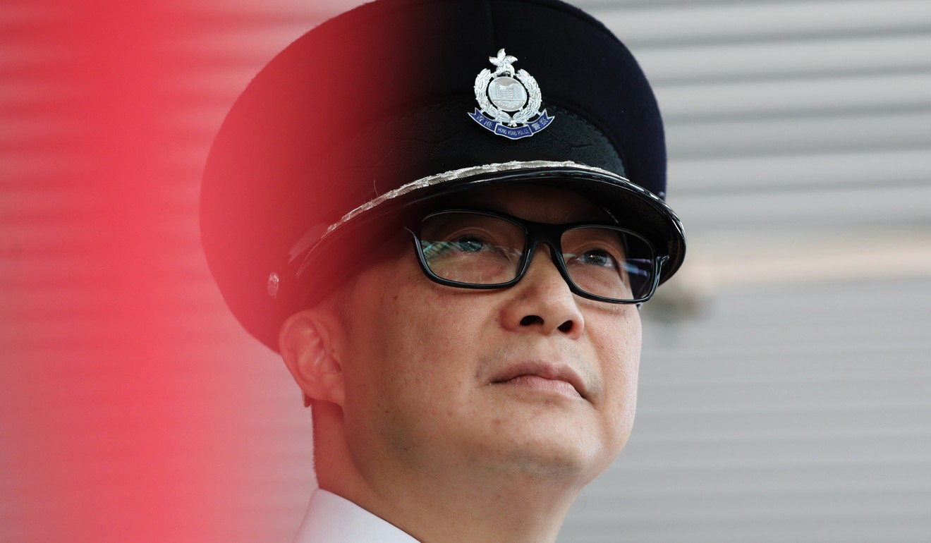 """Police commissioner Chris Tang said at the event he learnt """"everything"""" from actors Jackie Chan and Alex Fong. Photo: Nora Tam"""