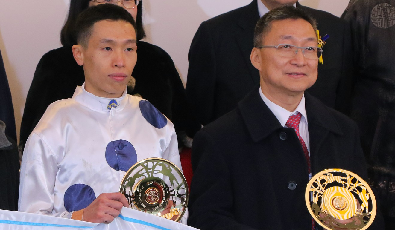 Jockey Vincent Ho and trainer Francis Lui.