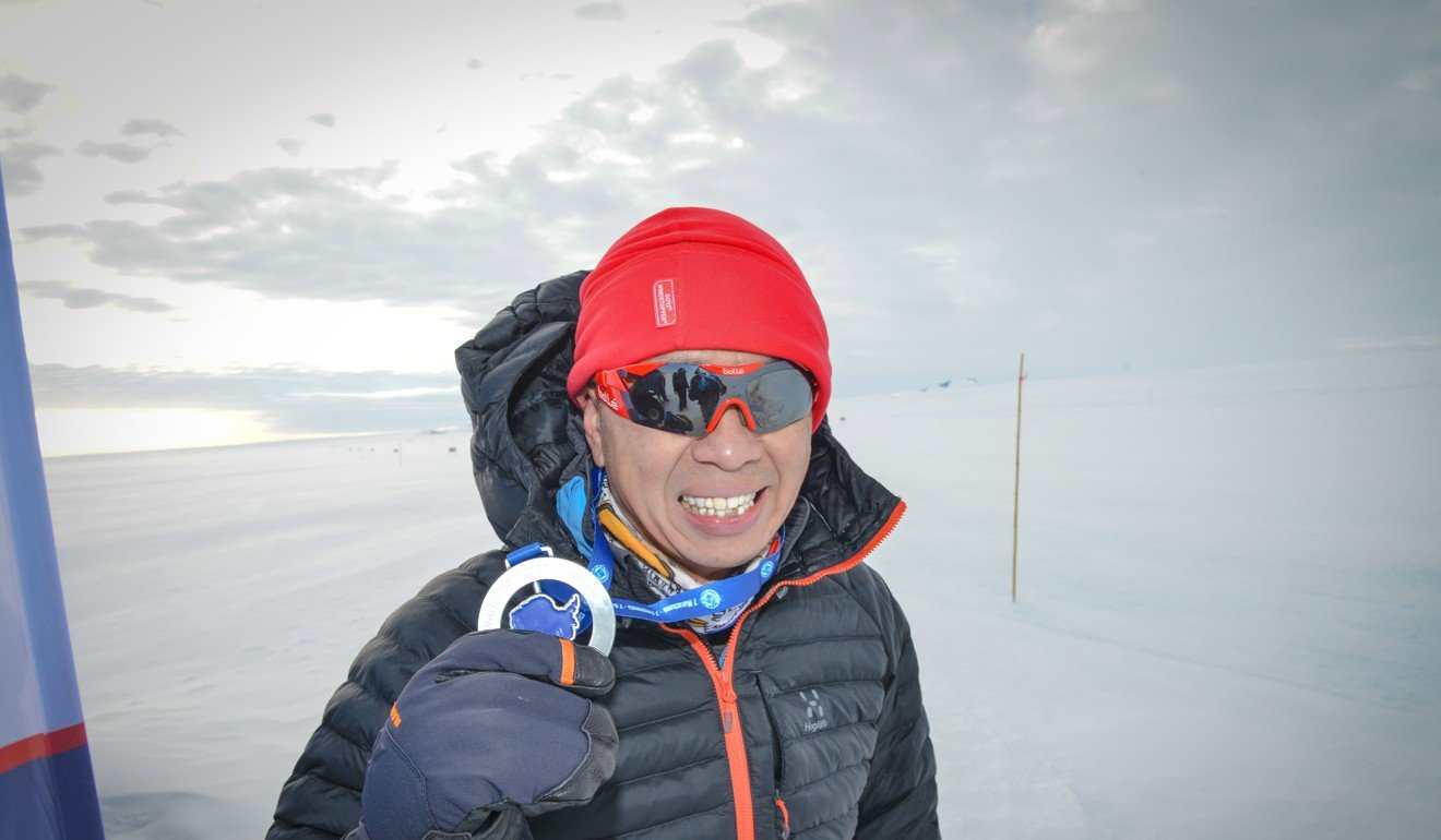 Andy Chik Wing-keung is proud his daughter finished the Antarctic run, despite the conditions.