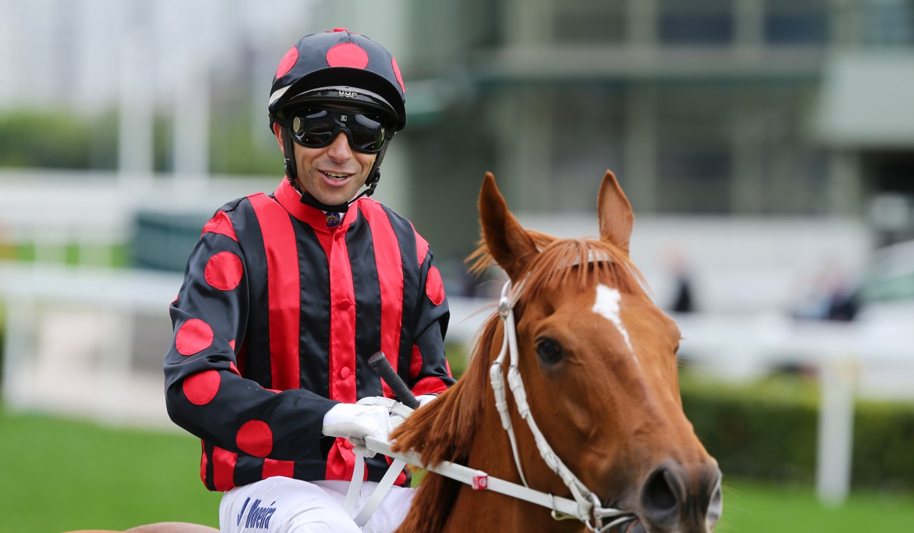 Joao Moreira returns after winning the Group One Gold Cup on Time Warp on Sunday.