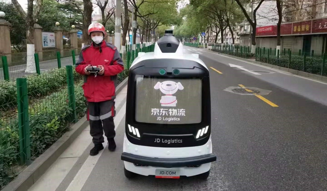 China's e-commerce giants deploy robots to deliver orders amid coronavirus outbreak