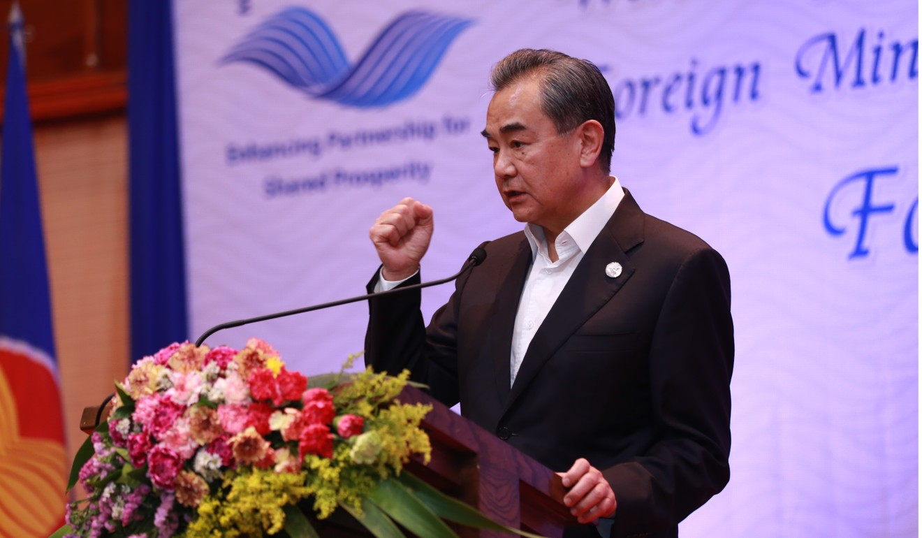 Foreign Minister Wang Yi said a lack of rain, not China's dam projects, had caused the drought. Photo: Xinhua