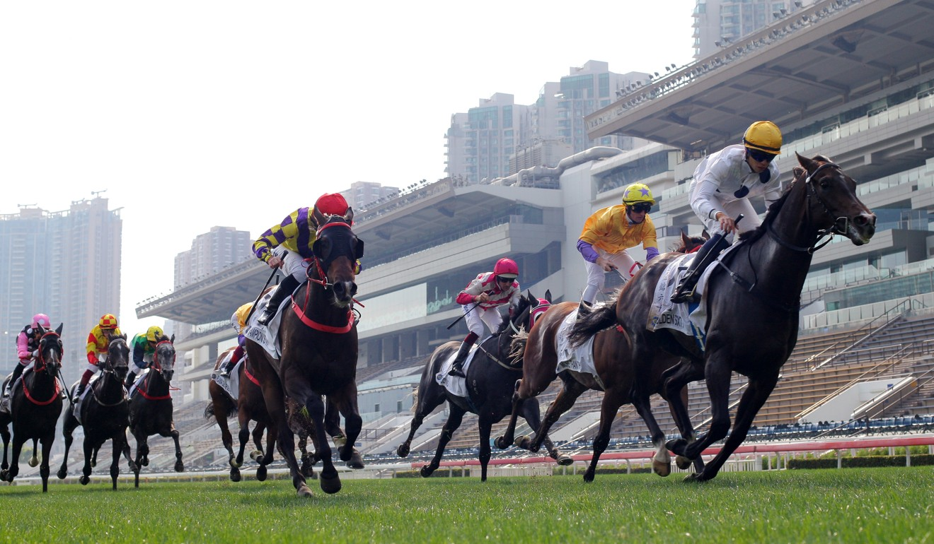 Golden Sixty wins the Classic Cup under jockey Vincent Ho.
