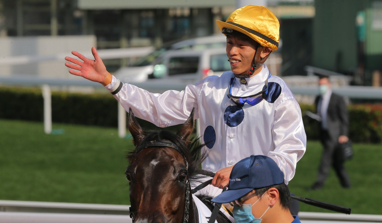 Vincent Ho aboard Golden Sixty after winning the Classic Cup.
