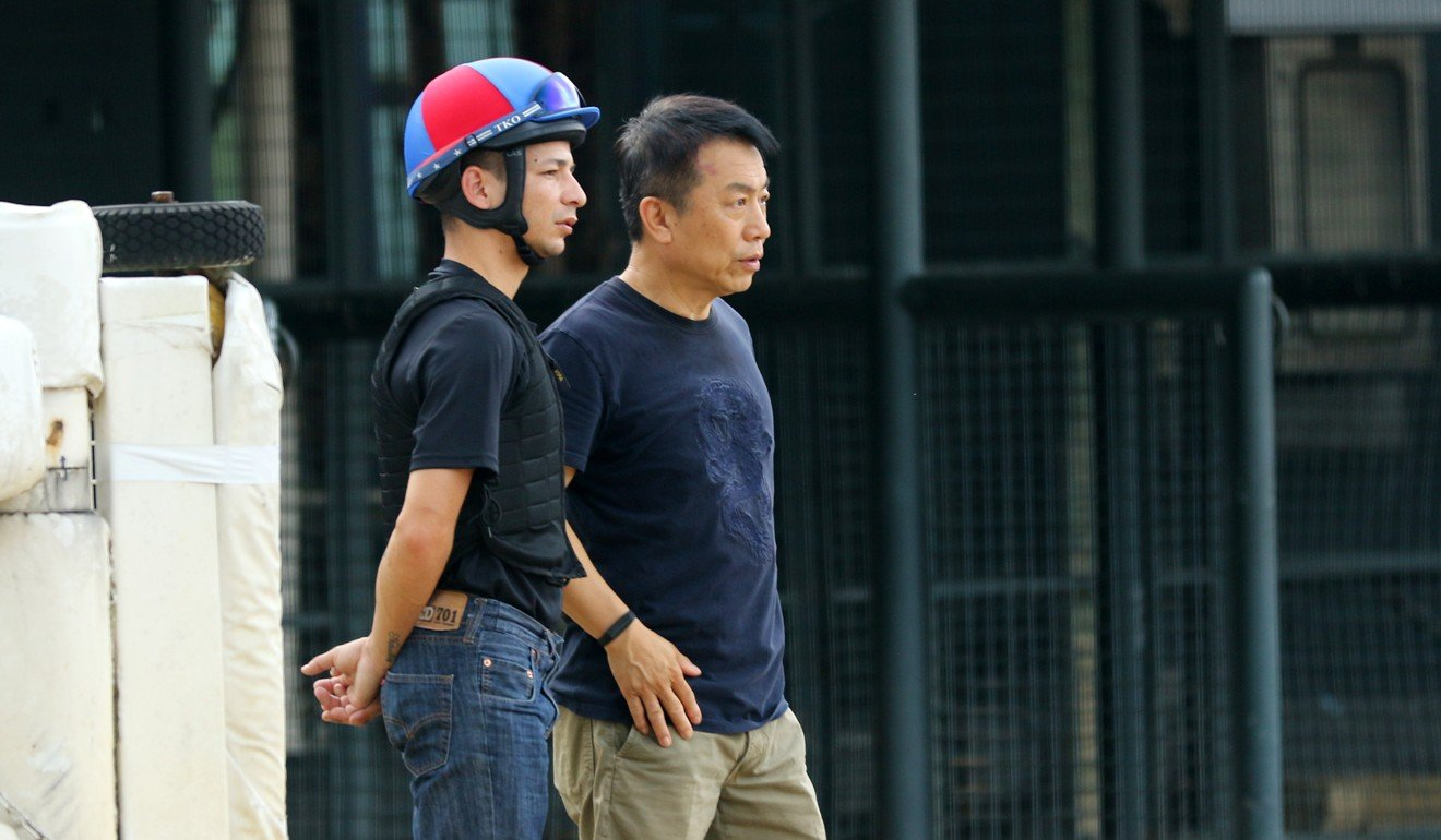 Vagner Borges with trainer Ricky Yiu at Sha Tin.