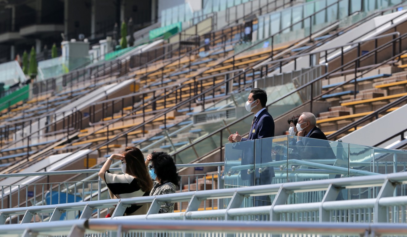 A handful of owners look on at Sha Tin on Sunday.