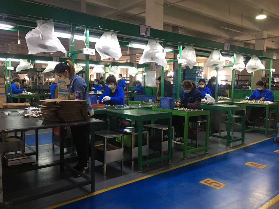 Workers in the Foshan factory of Chinese manufacturer Rifeng Group have been gradually returning to work. Photo: Supplied