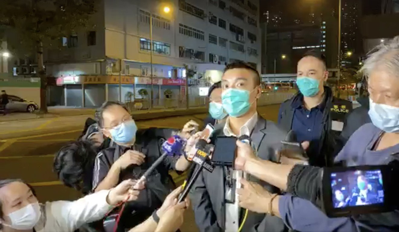 Inspector Shing Wai-yan of the Tuen Mun anti-triad squad discusses details of the arrest made after a video of two teenage girls beating another went viral on February 26. Photo: Facebook