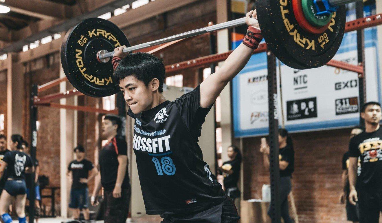 Hung Tsai-jui training in Taiwan. Photo: Handout