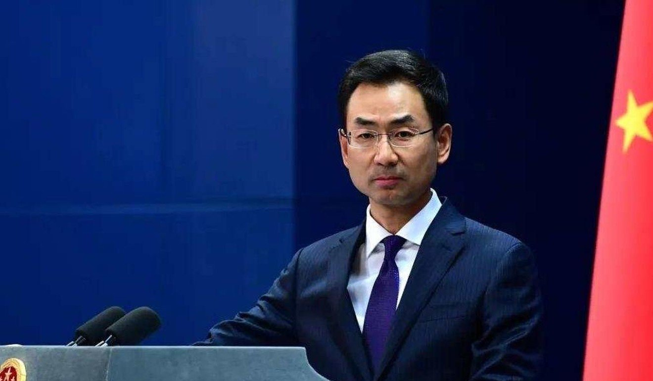 Geng Shuang a spokesman of China's Foreign Ministry said The Wall Street Journal should be held responsible for its headline.