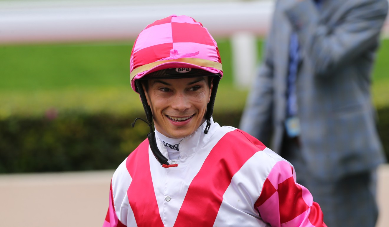 Alexis Badel after riding Super Wealthy to victory at Sha Tin.