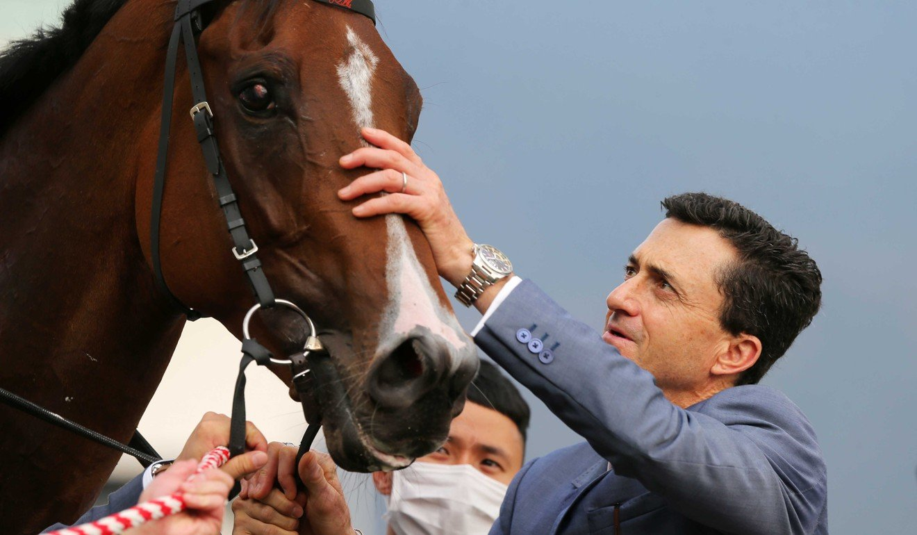 Douglas Whyte with Super Wealthy after his win at Sha Tin on Sunday.