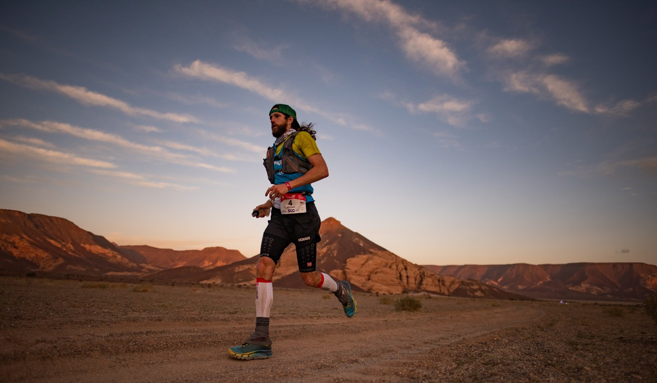 Globetrotting ultra runner Michael Wardian from the US took gold in the 83km race. Photo: Kirk Kenny/Studio Sag