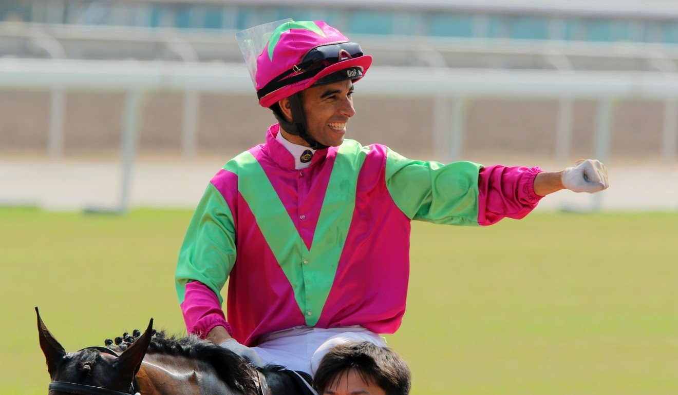 Joao Moreira wins aboard Elusive State at Sha Tin this season.