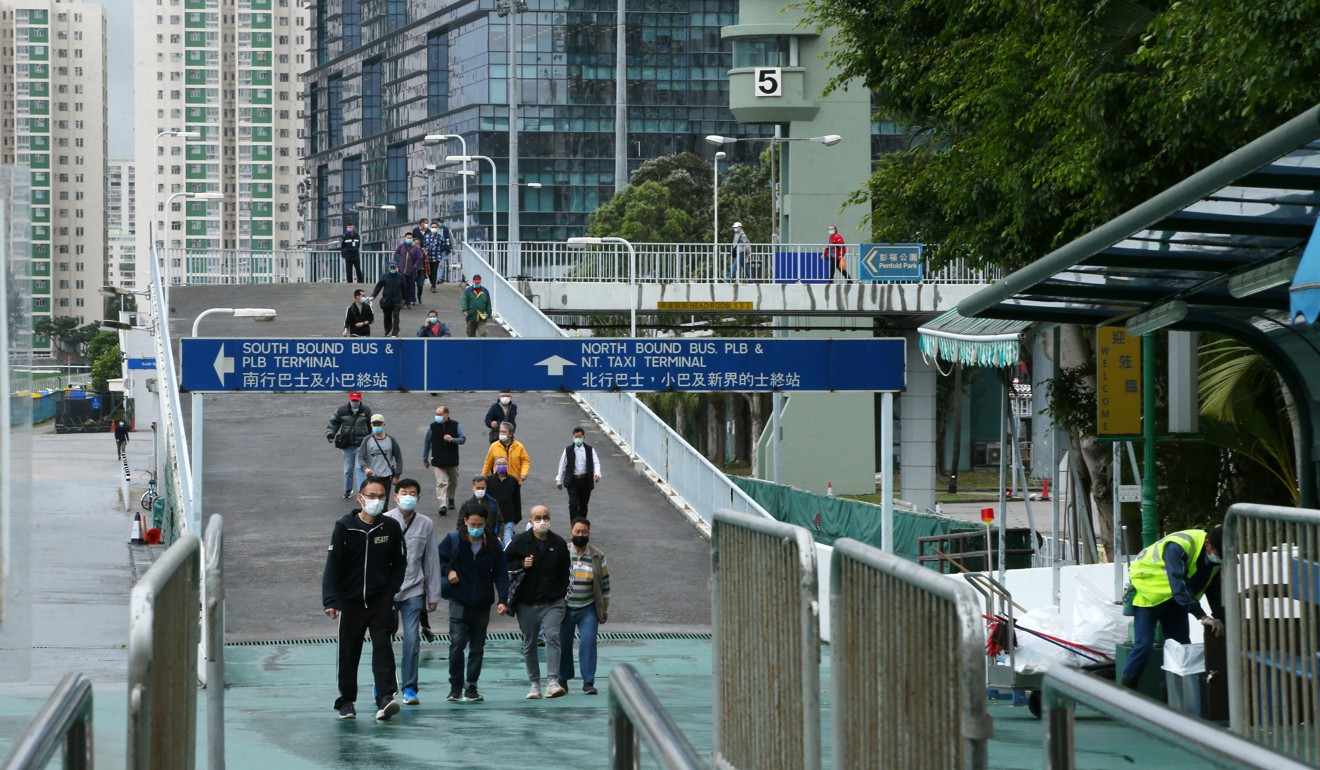 Fans walk into Sha Tin to access the customer services open on Thursday.