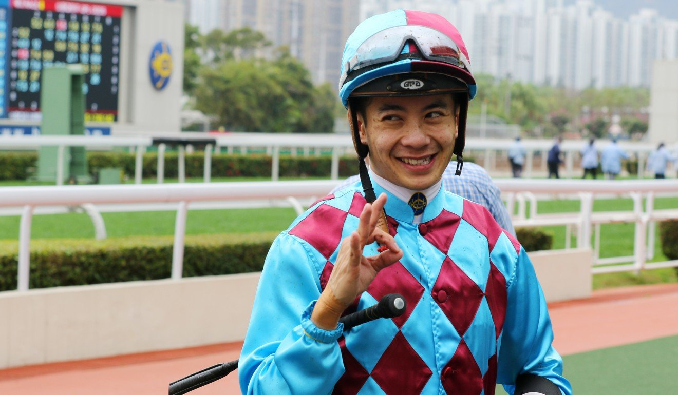 Derek Leung celebrates 300 Hong Kong winners.